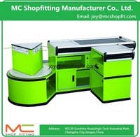 Supermarket Cashier Counter/Customized Cashier Desk Store Checkout Counter