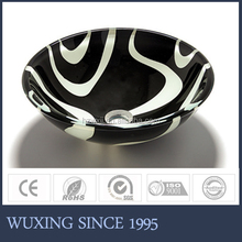 [WX] charming round bathroom glass wash hand basin for vanity