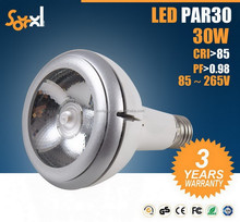 ETL cETL 277V 3000K Halogen White E26 Narrow Spotlight 30Watt E27 COB LED Bulb PAR30 Dimmable