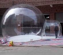 2015 hot inflável tenda bolha barraca inflável gramado tenda transparente inflável