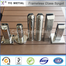 Yc métal australie 304 satin balustrade en verre sans cadre