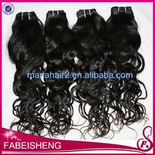 Machine weft and high quality 100% virgin hair velvet hair weave