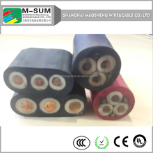 oil-resistant 8G1.5 coaxial+electric elevator cable with steel wire