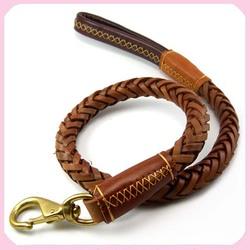 Luxury Strong German shepherd Genuine Leather Dog Leashes Dog Training leather Lead