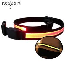 High-tech night led belt light sparking optical LED Belt lashing belt