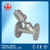completely Stainless steel 1'' flange end pneumatic control angle seat valve