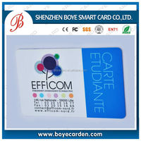 Newest and cheap plastic PVC blood type identification card