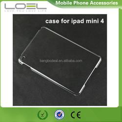 New product clear hard pc case for ipad mini 4, for ipad mini 4 pc back case