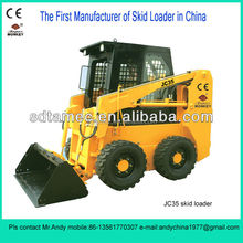 Skid steer loader,China bobcat,JC35 with 35hp diesel engine,loading capacity is 500kg