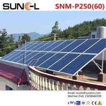 sunpower solar panel 250w with TUV CE IEC CQC certified