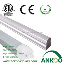 High Brightness Integrative T5 LED Tube 1200MM 18W CRI 80 Cool White CE ROHS ETL 5 years warranty made in China
