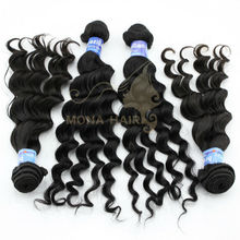 2013 cheap hot selling smart and fascinating virgin brazilian human hair loose wave hair