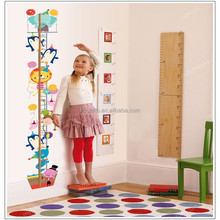 Cartoon Cute Lovely Animals Measurement of height DIY Wall Stickers Kids Bedroom Nursery Mural Decal AY9178