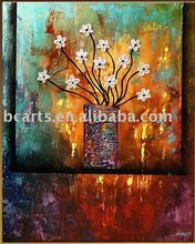 wall art flower acrylic painting,100% pure hand-painted high quality modern abstract art painting wholesale flower knife