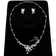 2015 Holiday Party Necklace and Earrings Rhodium Jewelry