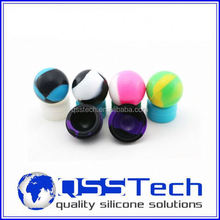 High quality 7ml customized small mobile phone silicone case/ oil dab wax container/ silicone wax and oil container