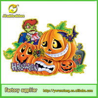 wholesale wall sticker removable clear paper pumpkin and vampire for Halloween decor
