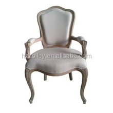 French louis wooden dining chair antique wooden armrest dining chair