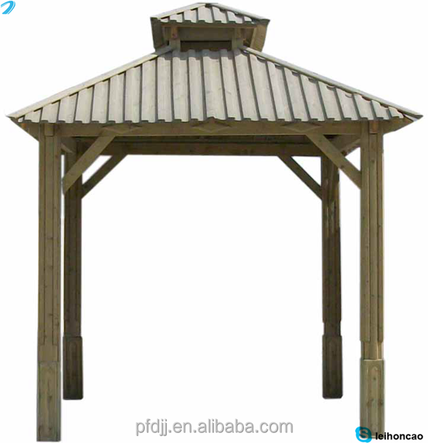 Gazebo En Bois Massif : Pas cher carr? en bois massif de toit gazebo ? vendre-Belv?d?re-Id