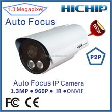 CCTV HD 1.3MP 1280*960P 2.8-12mm varifocal lens camera, bullet ip camera
