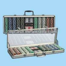 professional poker chips set for promtion,acrylic cover poker chip game case