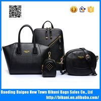 2016 New designer China high quality elegent PU leather bags set women tote bags 4 pcs women handbags set