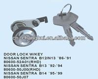 Door lock with key For Nissan SENTRA B12 / N13 B13 B14