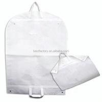 canvas custom suit bag, leather nylon suit cover, luxury garment bags travel