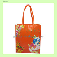 Handled nonwoven laminated promotion gift bag