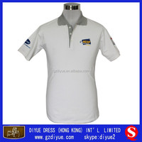 White Embroidered LOGO New Design Polo T-shirt