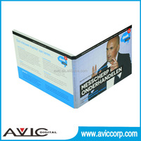 256MB A5 size 4.3 inch blue video brochure card video LCD module for business promotion