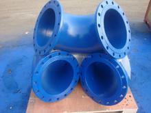 90 Deg Ductile Iron Double flanged bend