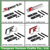 Top quality custom chrome plastic car brand logo