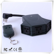 outdoor 3 ways wireless remote control ac electrical power outlet plug switch(110V/US Plug)