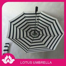 "21""*8k white and black 8 rib lined umbrella"