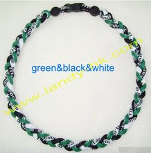 Cheap sports negative ion necklace with titanium wholesale