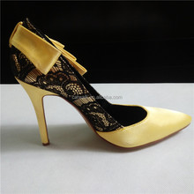 Formal office dresses shoes for women silk and lace upper fashion high heels stiletto heel 10cm