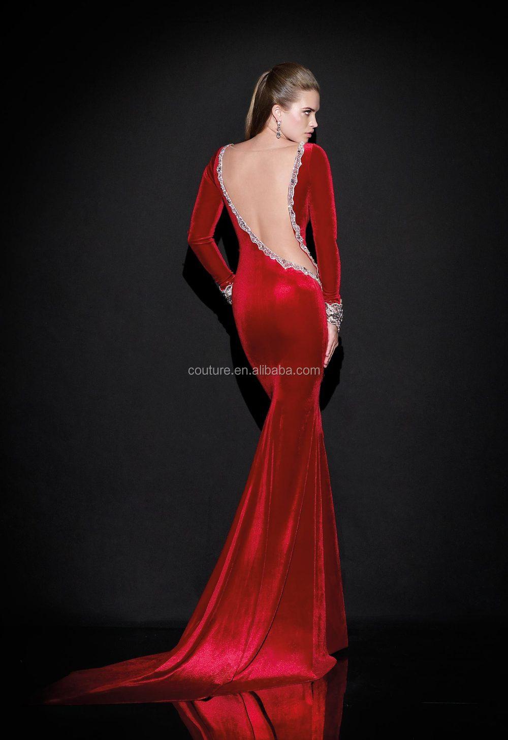 Robe soiree 2015 longue rouge