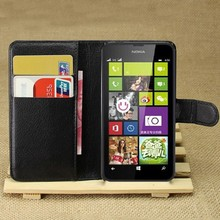 2015 Hot Case For Nokia Lumia 630 635 Cases Black Flip Leather Stand Case Wallet For Nokia Lumia 630 635