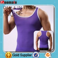Without Logo New Style Simple Fashion Purple Transparent T-Shirt Sexy Tank Tops China Supplier Bamboo Underwear