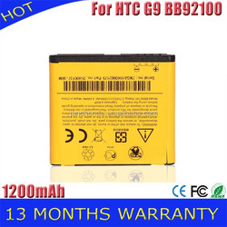 Batteries For HTC G9 battery batteria ACCU AKKU BB92100 battery 1200mAh with fast shipping