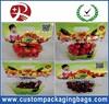 Clear Plastic Fruit Packaging Slider Zipper Bags Apple / Grape Bag