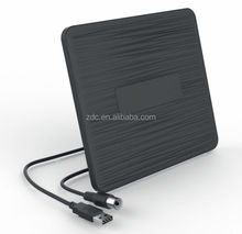 VHF:87.5-230MHZ,UHF:470-862MHZ Indoor TV Antenna active I-Z2-B with USB Cable power supply for TV