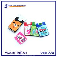 New advertising custom mobile screen cleaner back stick card holder