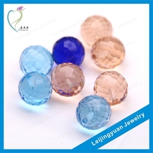 Round shape colorful faceted gemstone bead