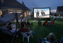 Custom Inflatable Yard Movie Screen for Family Gathering
