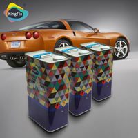 2K solid colors acrylic car paint with high-performance hardener