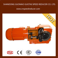 K series 90 degree right angle gearbox helical bevel gearbox