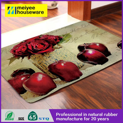 Red Apple with Vase Nature Rubber Door Mat Floor Mat Customized Design Odorless Non-slip 100% Eco Friendly
