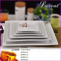 cheap square shape white porcelain dinner plate for restaurant,hotel,home